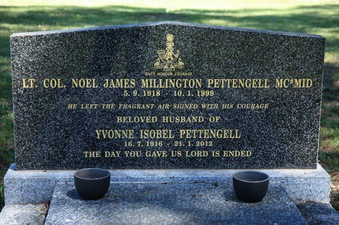 Lt Col Noel James Millington Pettengell